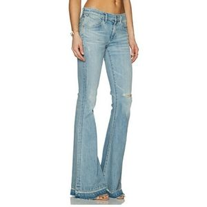 NWT Agolde Madison 70s Flare Jeans in Blue Lagoon